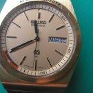 SEIKO ALARM QUARTZ water resist st. steel golden vintage men's wristwatch