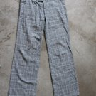WOMEN junior gray plaid casual low rise pants sz 38