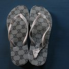 NWT LIRON LADIES SANDAL FLIP FLOPS SHOES GRAY sz 38