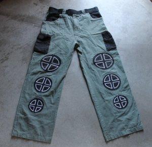 AKUKA Men Junior Khaki black boho pants trousers Pantaloni Hosen