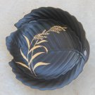 Leaf Shaped Vintage Plate Folk Art - Golden Black GOLDEN SUZUKI GS - 10