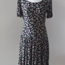 Donna Ricco New York floral black dress, Size M, Flattering