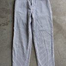 CHIPIE Women Junior Striped White Blue Beige pants trousers Pantaloni Hosen size 28 S