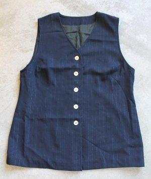 Vintage Black lightly striped Vest XL Super Size Fully Lined