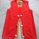 Vintage Red Lining, Vest, XL