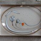 LINIA FONTANA New Vintage Platter Transparent Glass Plate Serving Dinnerware