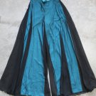 Tailor Made Womens elegant pants chiffon skirt Black Blue sz 6 USA, 38 EUR