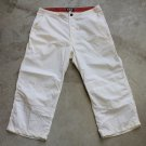 S.B.J Scotch Blue Jeans White capris crops surfing pants trousers sz L