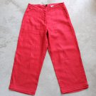 H&M L.O.G.G Red Women's Pants trousers pantalones hosen Sz 4 us 34 eur