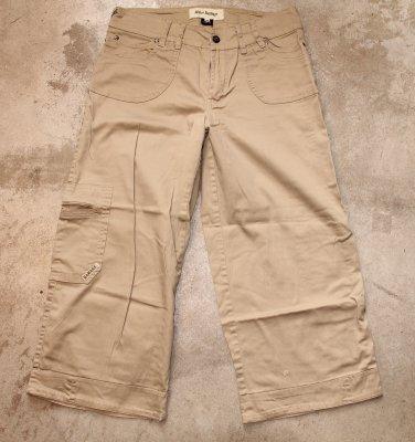 MAJOR DAMAGE KHAKY capris crops cargo pants trousers sz 42
