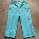 Women junior DAN KASSIDI cropped blue trousers pants pantalones hosen sz 38