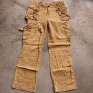 ULTIMA MODA Beige Cotton Cargo Sz 30 women's Pant trousers pantalones hosen