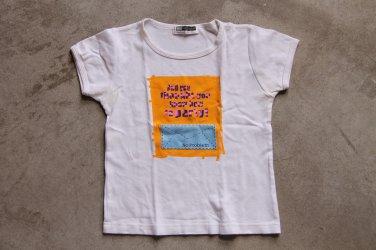 NO PROBLEM Girls Juniors Cotton Graphic Tee Shirt Top S