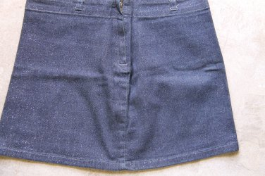 CASTRO JEANS Skirt Gonna rock blue  sprinkles Sz 34