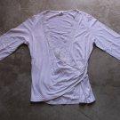 DAN CASSIDI White Envelop shirt chemise blouse Sz S