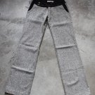 GRIP TWEED WOMEN'S PANTS TROUSERS PANTALONS HOSEN GRAY W 25