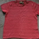 LIZ CLAIBORN LIZWEAR Knit Pink Orange Top T-shirt Blouse Sz M Petite