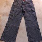BOY LONDON Women Junior Blue Jeans Cargo Pants Trousers Pantalons Hosen Sz M