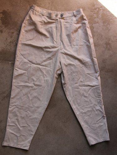 White Stripped Pants Trousers Pantalons Hosen sz L