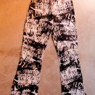 JUS D'ORANGE PARIS ART Boho Pants Trousers Pantalons Hosen sz S