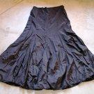 TUGCE & ECE Collection Black Long Boho Flared Wide Skirt Spodnica Gonna Юбка Jupa sz 40