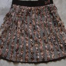 AMICA Boho Brown Camouflage Military A-Line Mini Skirt Gonna Юбка Jupa sz 40