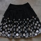 MOTI TOP Boho Black Pleated Mini Skirt Gonna Юбка Jupa sz 14 junior