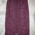 STEFANEL Elegant Scarlet Long Maxi Floral Embroidered Skirt Gonna Юбка Jupa sz 14