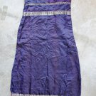 Maxi Sleeveless Spagetti straps Blue-Purple Dress Robe Abito Платье Sz 3