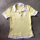 POLO Yellow Short Sleeves White Shirt Blouse tank top Блузка Camicetta Sz M/L