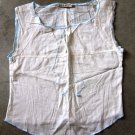 SACK'S Sleeveless Beige Shirt Canotta tank top Sz 0
