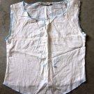 SACK'S Sleeveless Beige Shirt Canotta tank top Sz 0