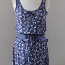 INTIMA NWT Purple White Floral Sleeveless Dress Robe Kleid size S