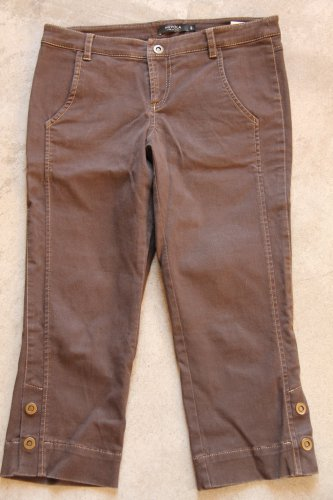 NUVOLA 7/8 Brown Low Rise Pants Italy size 40