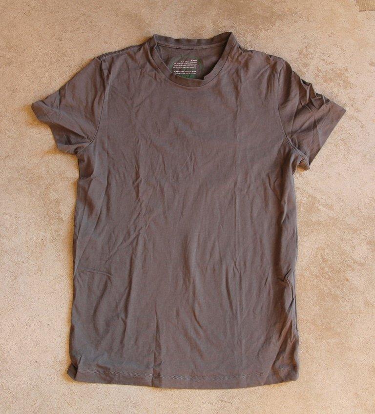 HOODIES Short Sleeves khaki  T-shirt Blouse Top Chemise Camicetta Sz M