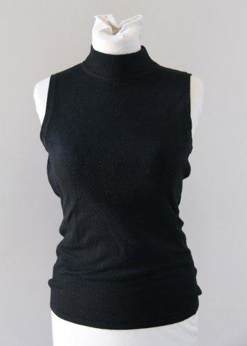 SPOT Basic Sleevelesss Black Turtleneck Blouse Top Chemise Camicetta Sz 2