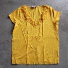 JONES NEW YORK Sport V-neck crochet Short Sleeves T-Shirt Blouse Top Chemise Camicetta Sz M