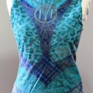 MORGAN De Toi Blue Sleeveless Elegant Canotta tank top Sz T-2