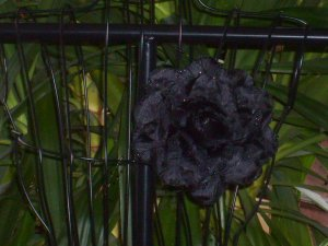 Black Flower Corsage Pin Clip