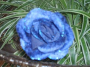 NWOT Bali Blue Flower Corsage Pin Clip Ponytail Holder