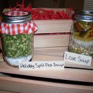 Holiday Split Pea and Love Soup Mixes in Wooden Crate (2 soup mixes)