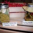 Chicken & Mushroom Noodle Soup and Turkey Noodle Soup Mixes in Wooden Crate (2 soup mixes)