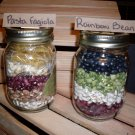 Pasta Fagiola and Rainbow Bean Soup Mixes in Wooden Crate (2 soup mixes)