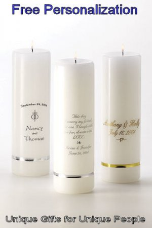 Personalized Unity Candle - Personalization is Free