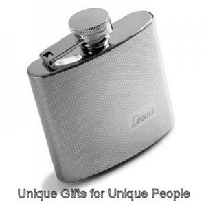 Textured 4 OZ. Stainless Steel Flask  W/Free Engraving
