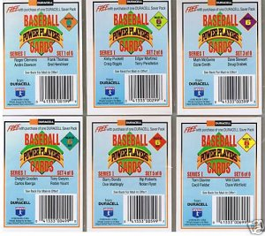 Duracell Baseball Power Players Cards Set of 6