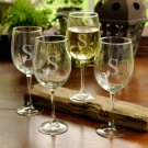 Set of 4 White Wine Glasses (19 oz) - Free Personalization