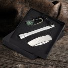 Sportsman's Gift Set - Free Engraving - Comes w/ Compass, Knife, and Flashlight
