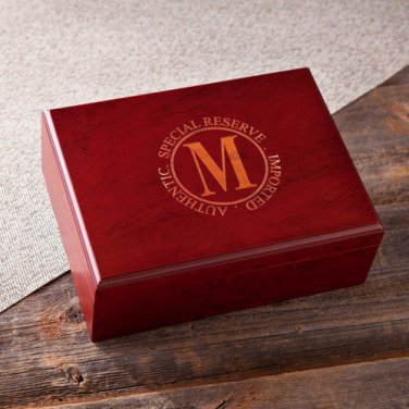 Laser Engraved Humidor - Free Personalization