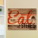 "18""x24"" Canvas - Wood Restaurant Sign Canvas Print - Free Personalization"